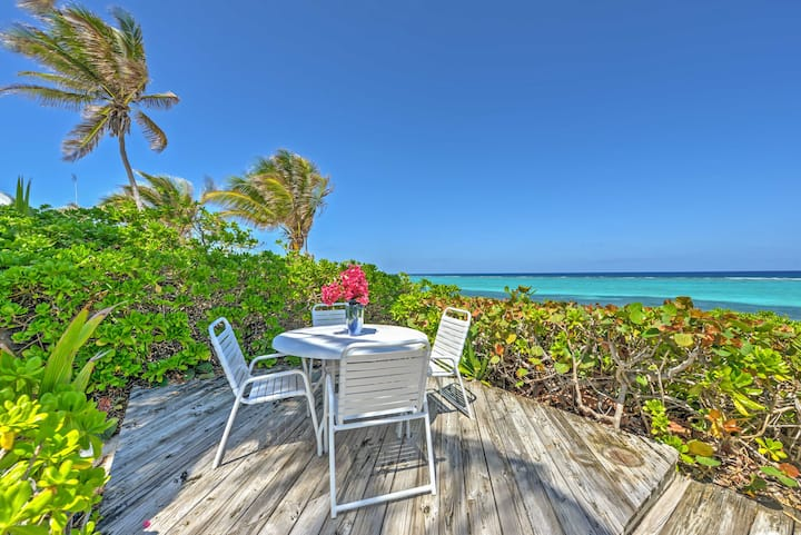 Oceanfront Northside Villa w/Sun Porch & Pvt Beach