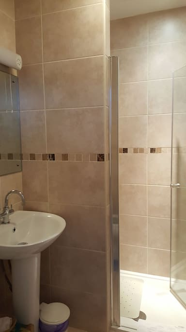 En-suite bathroom with walk in shower