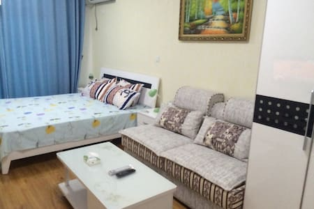 山海仙境一线海景公寓大床房 - Yantai