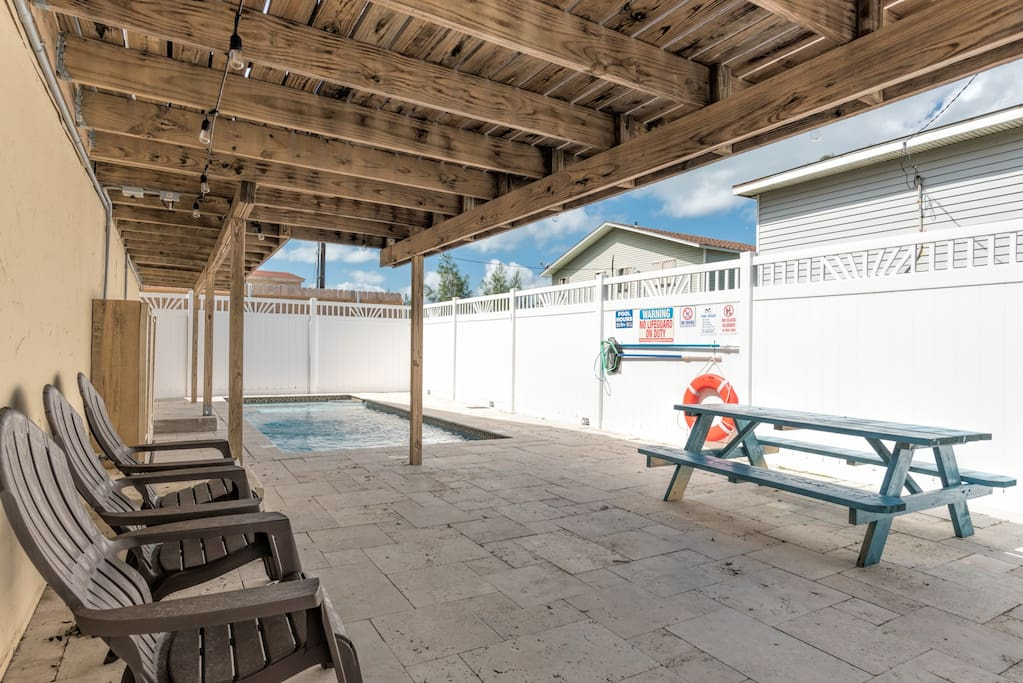 This pool area is shared by only two condos.