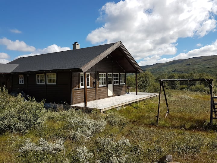 Fully equipped mountain cabin close to E16