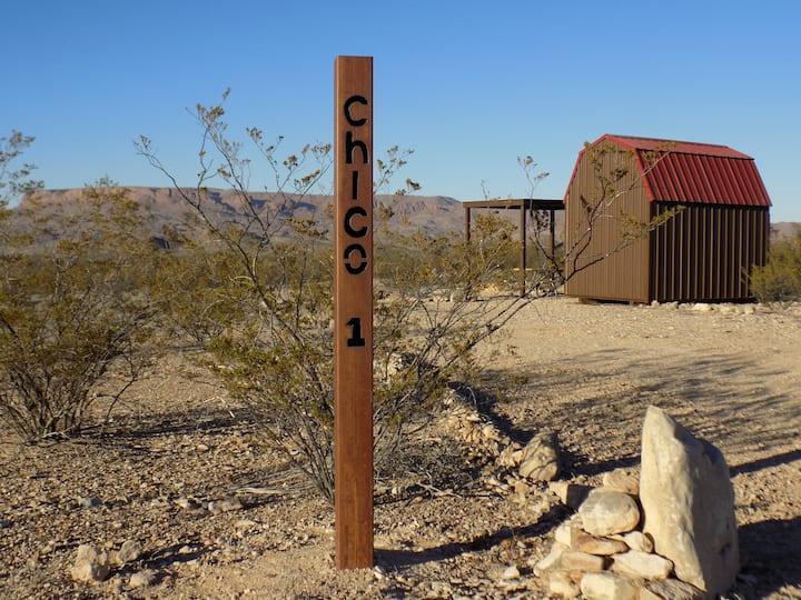 Chico 1  NEW! Terlingua camping cabin.