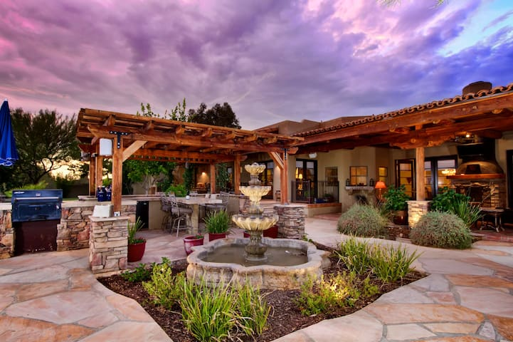 The Hacienda Estate provides a true Arizona experience with its Santa Fe inspired architecture and stunning landscaped grounds