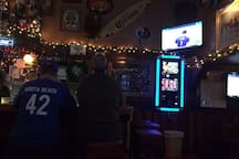 Baggy's neighborhood dive bar is less than a mile away
