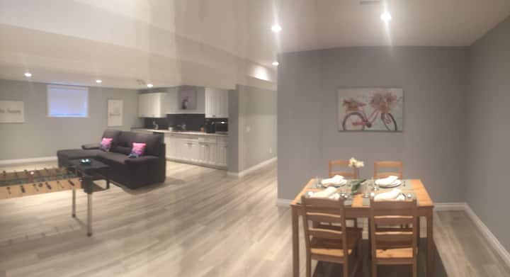 Newly finished clean and private family suite