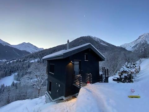 Chalet avec sauna et bain nordique