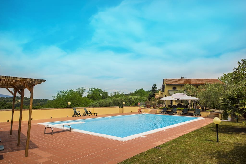 View villa from pool