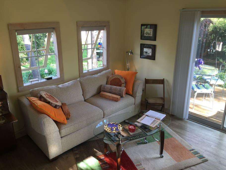 Inside the door enjoying the living room