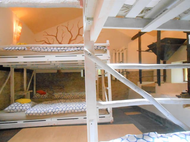 1 bed/dorm romantic watermill