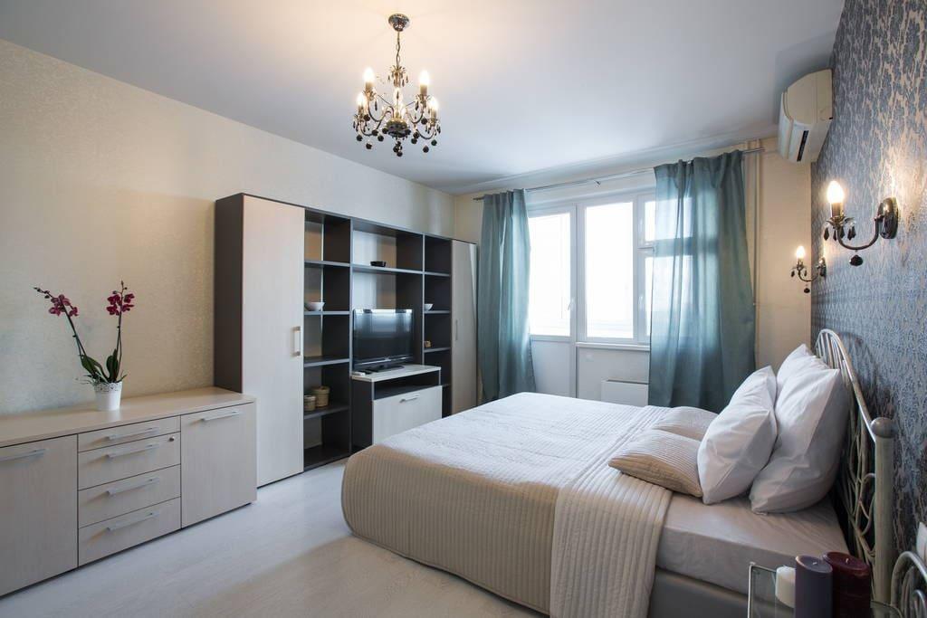 Спальня Lux-апартаменты в Лобне рядом с Шереметьево