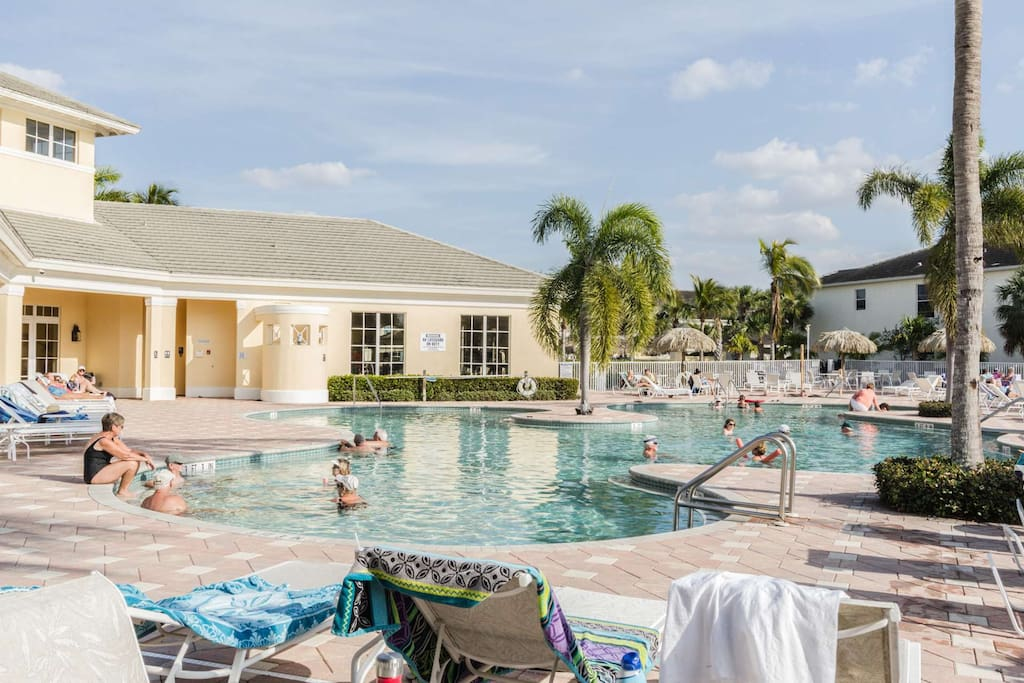 You will enjoy lounging poolside, meeting up with friends, or taking a refreshing swim at the resort style heated lagoon pool.