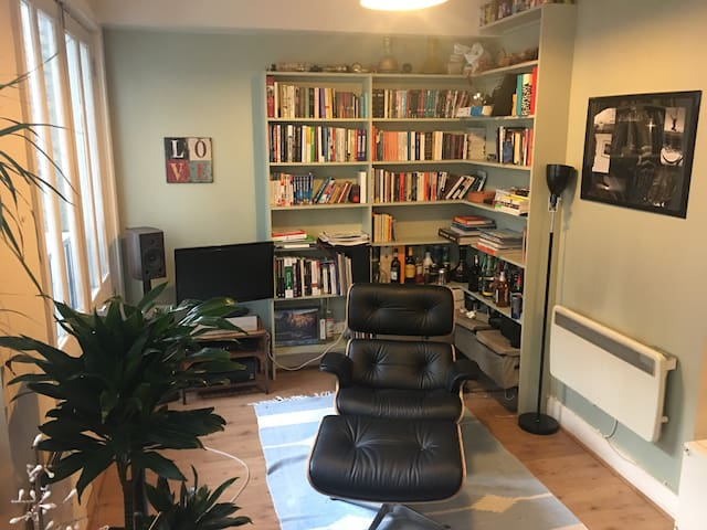 Double room in Shoreditch-living room and kitchen - ลอนดอน
