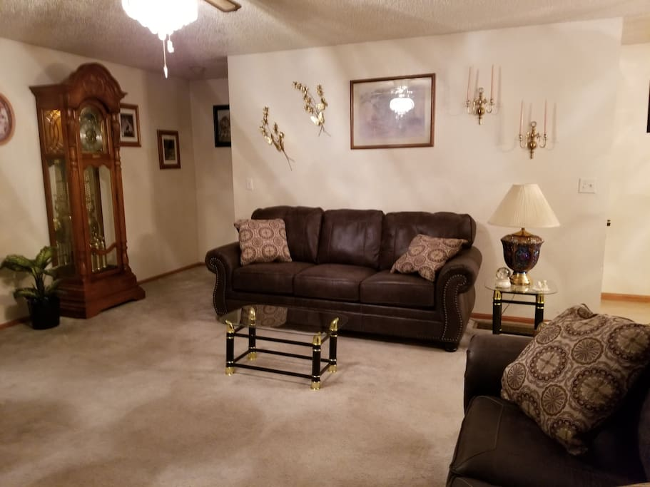 Private Living Room with queen hide-a-bed
