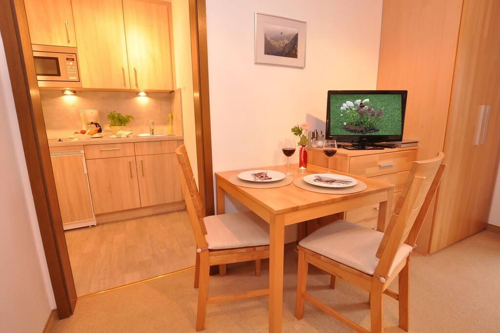 Essbereich und kleine Küche