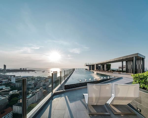 中文y3/the base/网红打卡公寓/天空之境/度假蜜月首选/楼顶无边泳池高层海景/y3