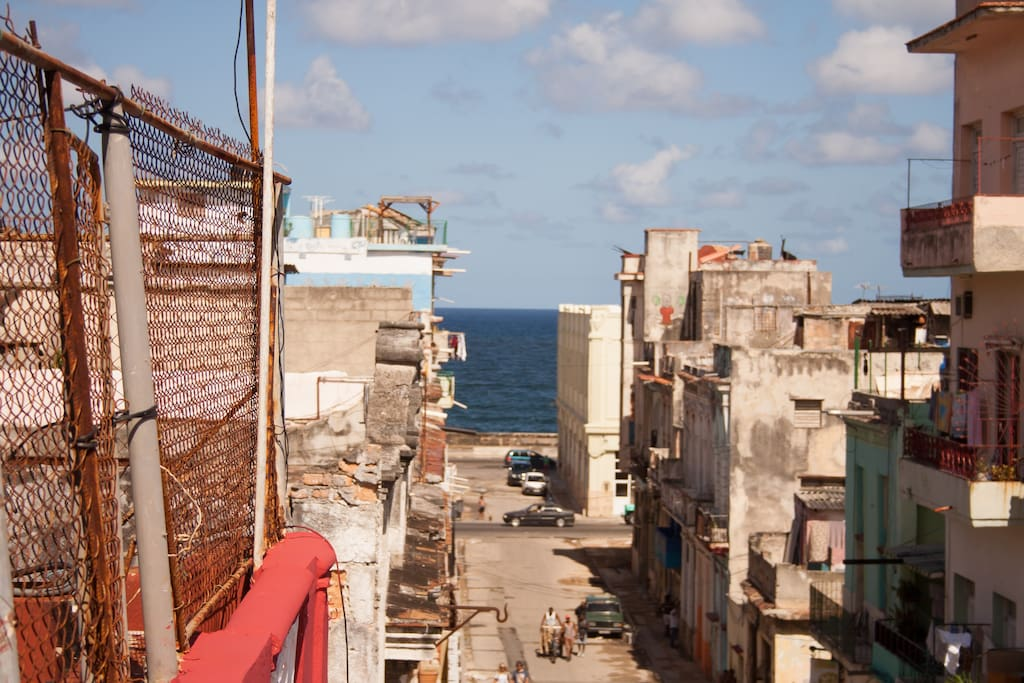 """Two blocks away from the sea and the mythic """"Malecón"""""""