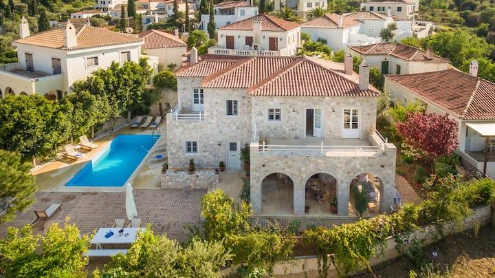 Spetses private Pool villa Arte