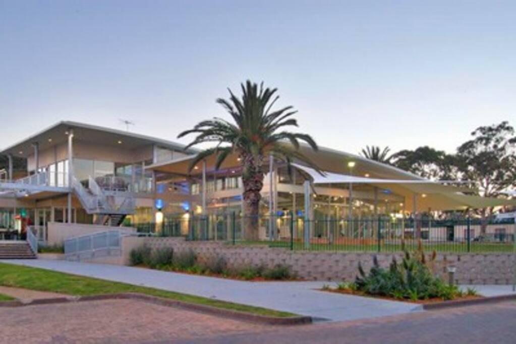 Pool, Gym, Cafe, Squash, Games room complex