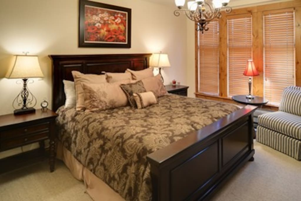 Master bedroom with large master bathroom