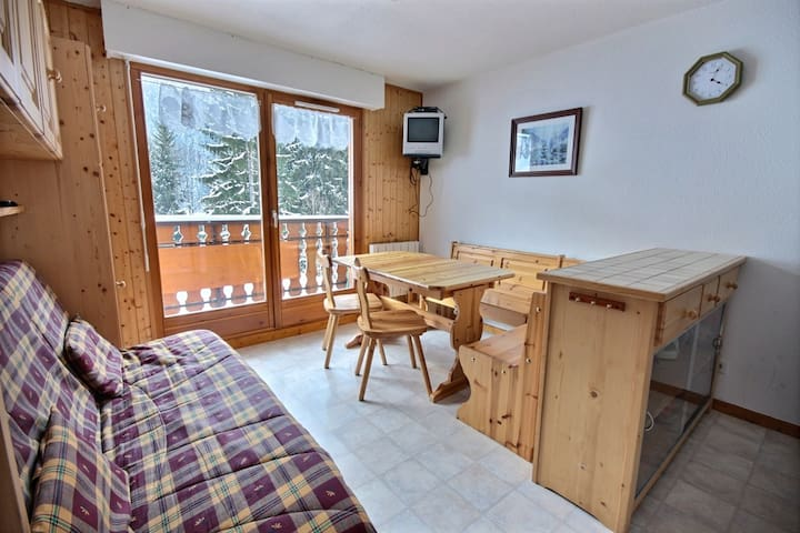 APARTMENT NEAR THE SLOPES - CENTRE OF SAINT JEAN D'AULPS SKI RESORT - 6 PEOPLE - GRAND CERF 10