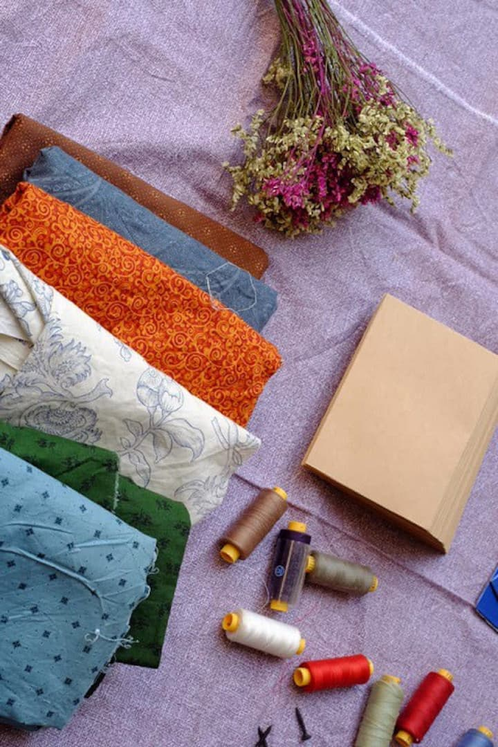 choose  favorite fabric for own handbook