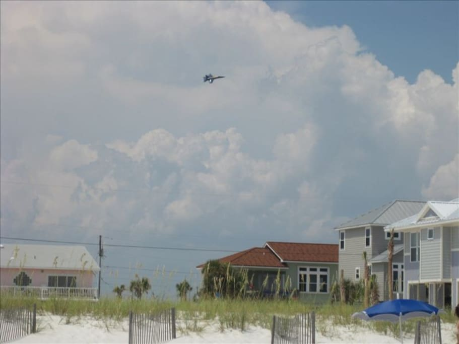 View of the house from the beach - Blue Angel Airshow!