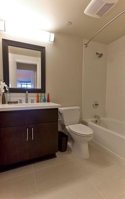 Bathroom with all the basics