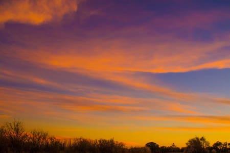 breathtaking sunsets. wonderful country setting