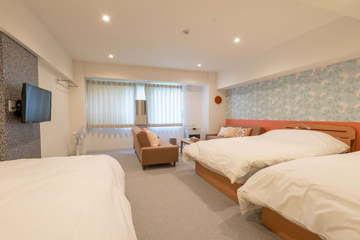 nice,large, pretty room with Pink! 【913・western】