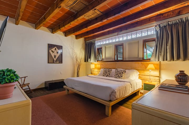 RELAXING and unique suite Coyoacan w/ King Bed