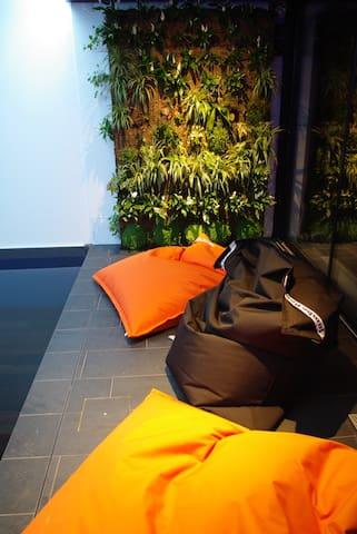 le mur végétal de la piscine