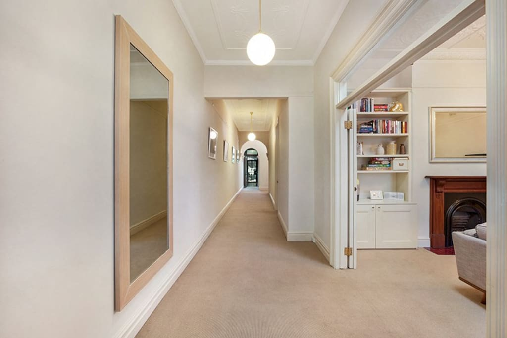 Expansive hallway that gives you the sense of space and grandeur.