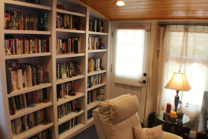 Private Entrance.... tons of books to read