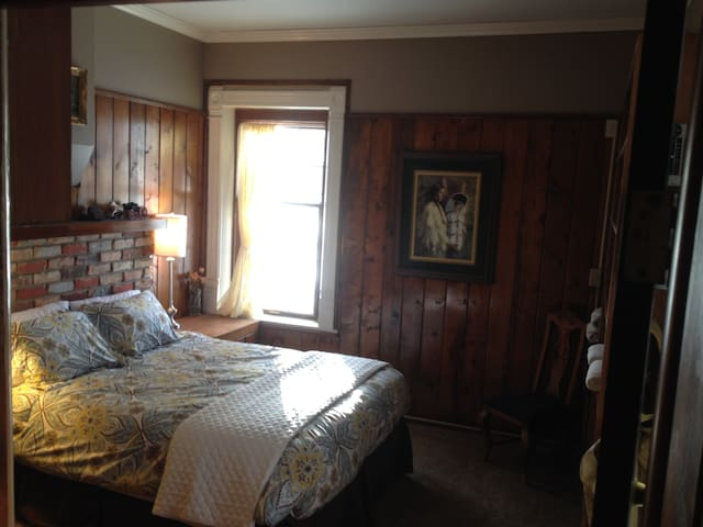 Ranch guest room with private bath.