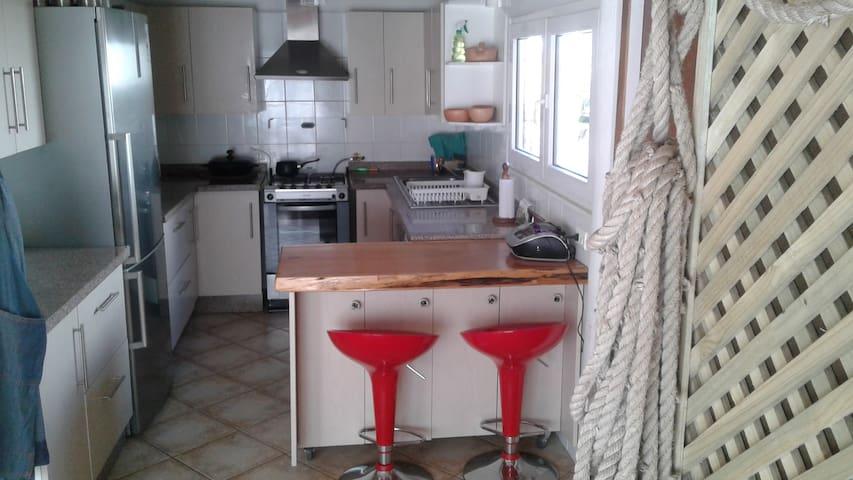 Cocina del hostal ,semi privada