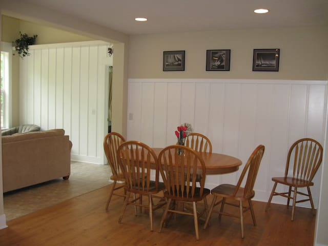 Dining area adjacent to living room