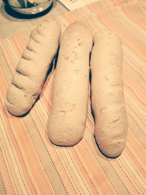 Il pane appena sfornato...