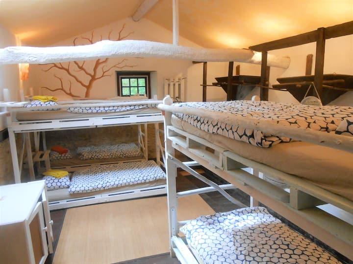 Dormroom in historic mill