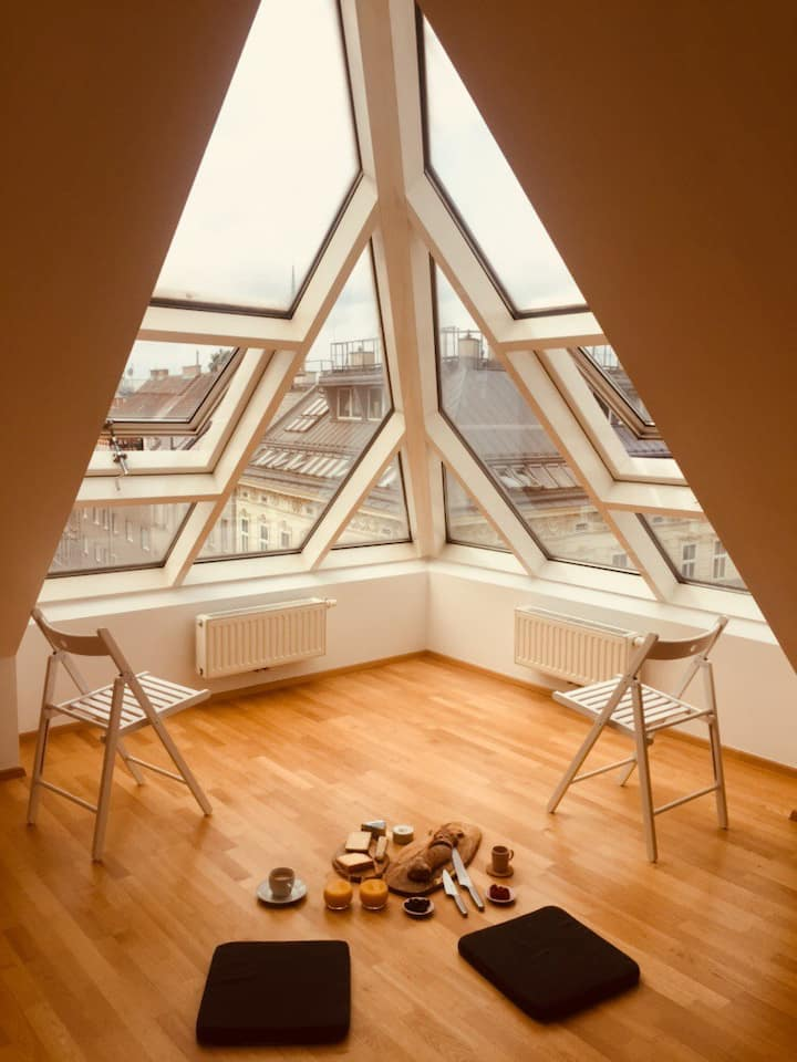 bright spacious rooftop apartment