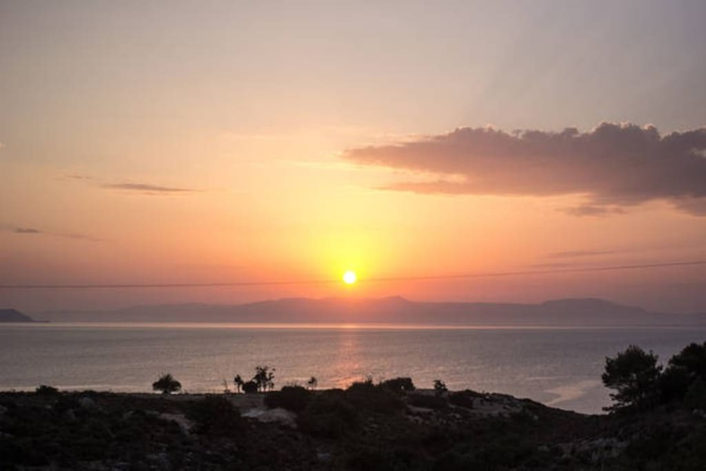 The best view on the Akrotiri!
