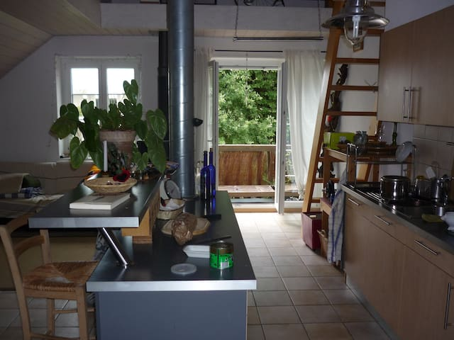 Chambre privée dans une colocation - Chavannes-près-Renens - Byt