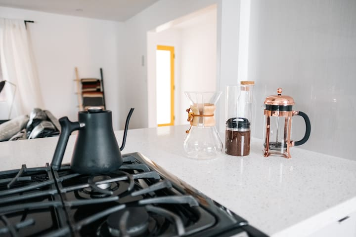 Make coffee with a Chemex or french press to start your day.