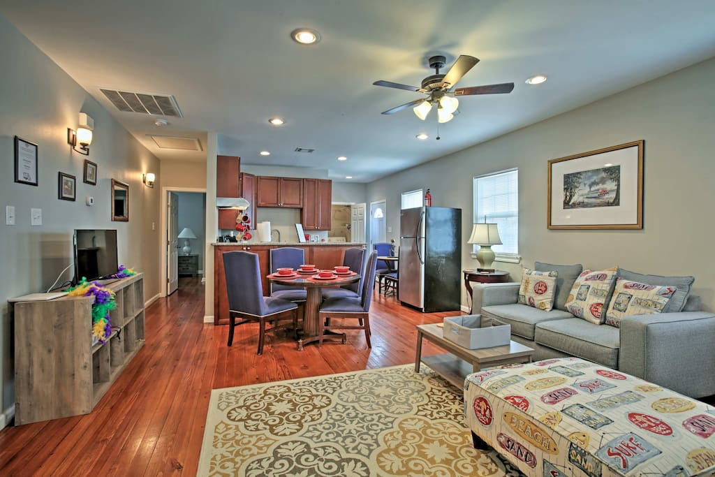 Find refuge from the heat in the large living area.