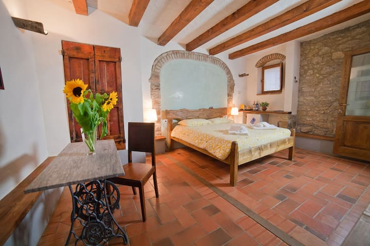 Family  Winery in Chianti Standard bedroom Loggia