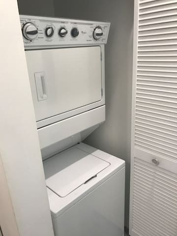 Washer and dryer in unit for free