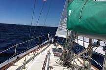 Sailing out on Georgian Bay