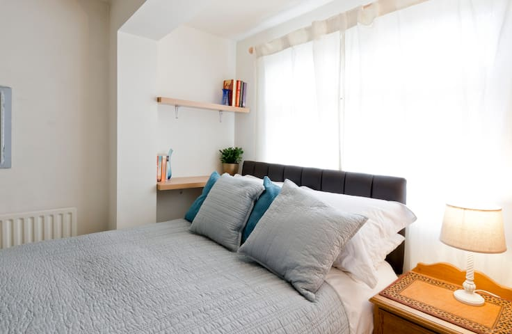 cozy double bedroom with double bed