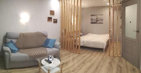 Квартира со стильным интерьером в центре города