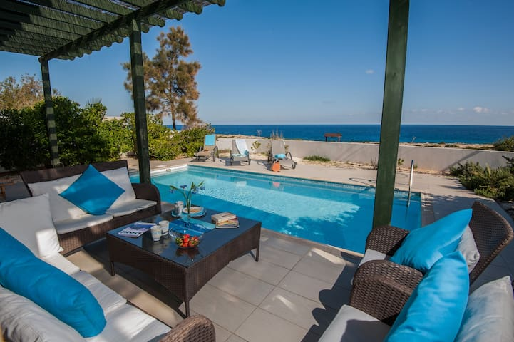 Luxurious 3 Bedroom Seafront Protaras Villa