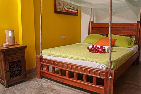 4 beds in private room in hotel resort